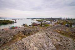 Yellowknife, Territoires du nord-ouest Photographie stock libre de droits