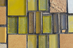 Yellowl mosaic. Colorful mosaic suitable as background Stock Photos