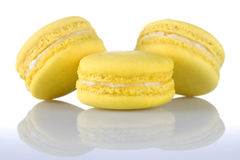 Yellows Macaroons Stock Image