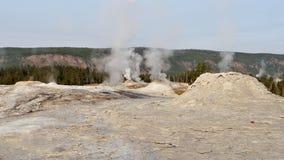 yellowstone Αφηρημένο τοπίο χρώματος των λιμνών και geysers Στοκ Φωτογραφία