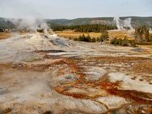 yellowstone Αφηρημένο τοπίο χρώματος των λιμνών και geysers Στοκ φωτογραφία με δικαίωμα ελεύθερης χρήσης