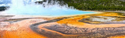 Yellowstone, μεγάλη Prismatic άνοιξη Στοκ Φωτογραφίες