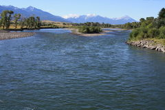 река yellowstone Стоковое Изображение RF