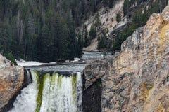 Yellowstone artist point waterfall stock photos