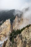 Yellowstone artist point waterfall royalty free stock image