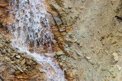 Yellowstone artist point waterfall stock photo