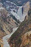 Yellowstone, baja caídas fotografía de archivo