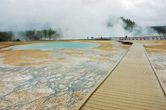 Yellowstone boardwalk Royalty Free Stock Image