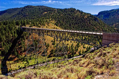 Yellowstone Bridge. Yellowstone N.P. bridge over a river stock photography