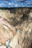 Yellowstone Canyon as seen from the Grand View lookout. Wyoming, USA royalty free stock images
