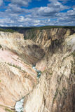 Yellowstone Canyon as seen from the Grand View lookout. Wyoming, USA royalty free stock photo