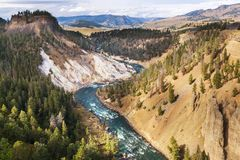 Yellowstone canyon Royalty Free Stock Image