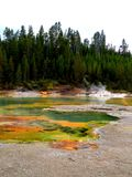 Yellowstone Colorful Pools stock photos