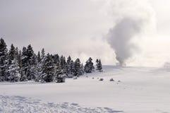 Yellowstone en invierno fotos de archivo libres de regalías
