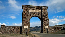 Yellowstone Entrance. The Entrance to Yellowstone National Park in Montana Royalty Free Stock Images