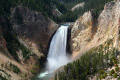 Yellowstone Fall. In yellowstone national park Stock Photography