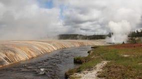 Yellowstone - Firehole flod Fotografering för Bildbyråer