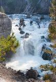 Yellowstone Firehole River Cascade Royalty Free Stock Photo