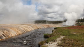 Yellowstone - fiume di Firehole Immagine Stock