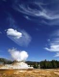Yellowstone: Géiser del castillo Imágenes de archivo libres de regalías