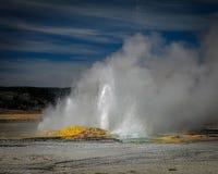Yellowstone geyser royaltyfri fotografi