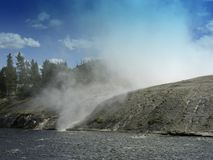 Yellowstone Geyser 库存图片
