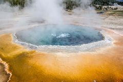 Yellowstone Geyser. A blue geyser at Yellowstone National Park Stock Photography