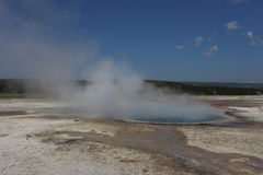 Yellowstone geyser. Old Faithful at Yellowstone is faithful Stock Image