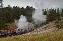 Yellowstone geysers Royalty Free Stock Photography