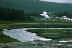 Yellowstone-Geysirtal Stockfotos