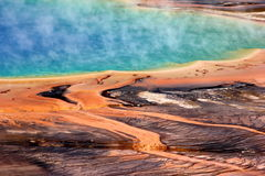 Yellowstone Grand Prismatic Spring Stock Photos