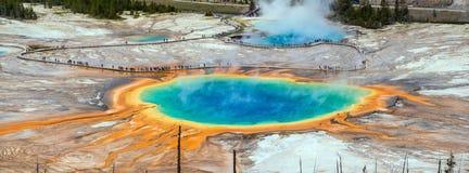 Yellowstone grand prismatic spring Royalty Free Stock Photo