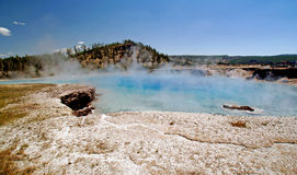 Yellowstone Grand Prismatic Springs Stock Images