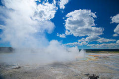 Yellowstone Hot Spring Steam Stock Images