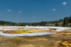 Yellowstone hot springs natural background Stock Images
