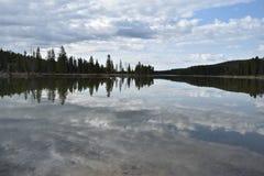 Yellowstone Jeziora Odbicia Obraz Royalty Free