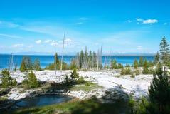Yellowstone jeziora, Yellowstone park narodowy, Wyoming, usa Zdjęcia Stock