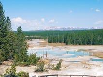 Yellowstone kopaliny w wodzie Zdjęcia Royalty Free