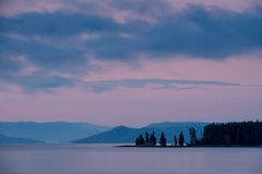 Yellowstone Lake at dawn Stock Image