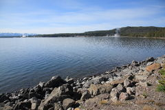 Yellowstone Lake and Geysers Stock Image