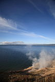 Yellowstone Lake and Hot Springs Royalty Free Stock Photo