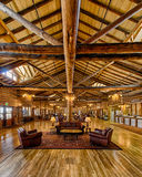 Yellowstone Lake Lodge. Lobby of the historic Lake Lodge in Yellowstone National Park, Wyoming Stock Photo