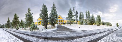 Yellowstone Lake Lodge Stock Photos
