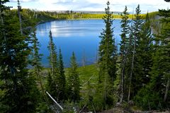 Yellowstone Lake Overview Royalty Free Stock Photos