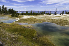 Yellowstone Lake and Pools Royalty Free Stock Images