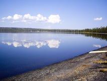 Yellowstone Lake Reflections Royalty Free Stock Photos