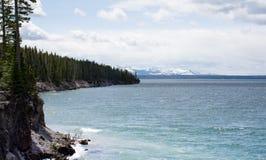 Yellowstone Lake with Shoreline Royalty Free Stock Photo