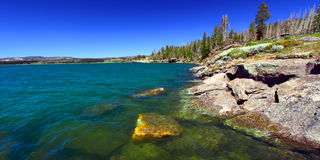 Yellowstone Lake in Wyoming Stock Image