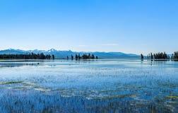 Yellowstone Lake at Yellowstone National Park. stock photography