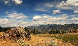 Yellowstone Landscape. Beautiful Blue Sky Over Yellowstone National Park Stock Photography